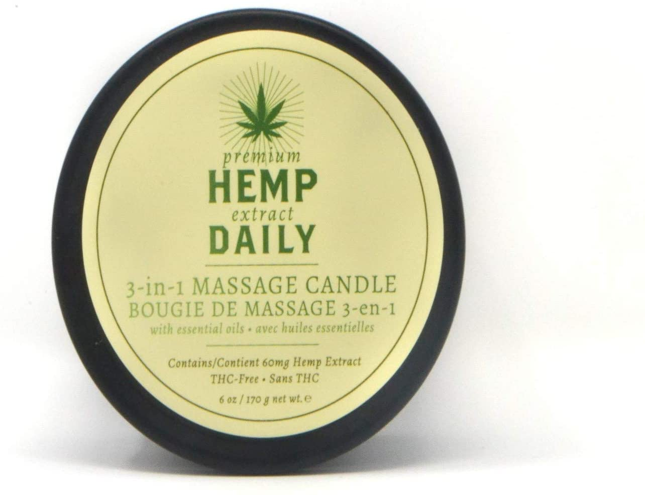 Hemp Daily 3-in-1 Massage Candle | Mint Scented | 6oz