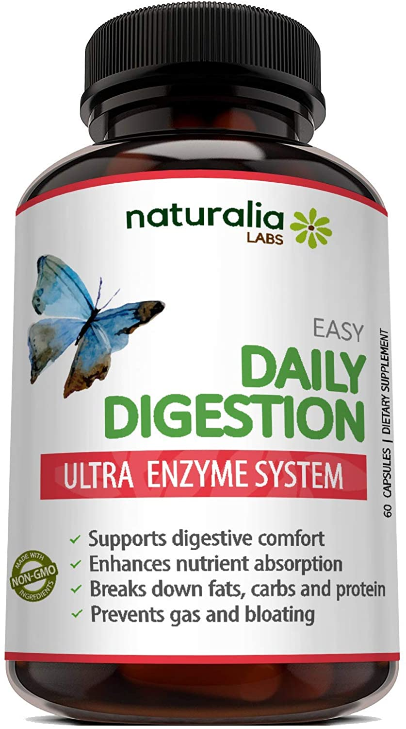 Naturalia Labs - Digestive Enzyme Supplements - Bromelain, Lactase, Lipase, Amylase, Papain, Protease - Stomach Health, Digestion, Bloating, IBS, Constipation, Gas Relief, Heartburn