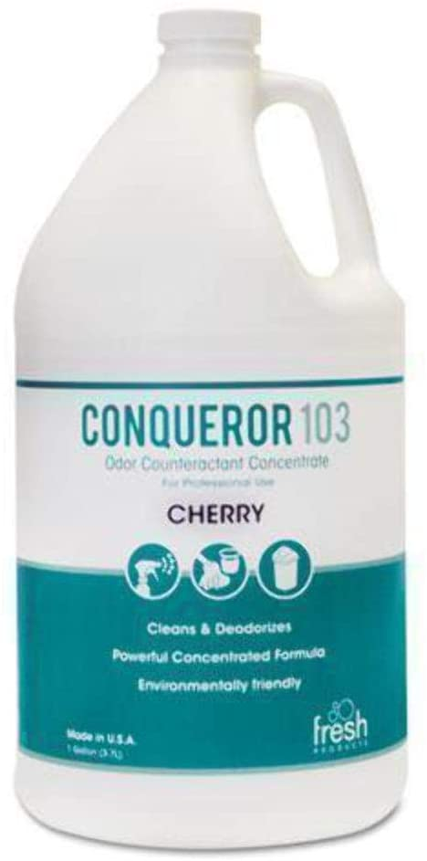 Fresh Products 1WBCHCT Conqueror 103 Odor Counteractant Concentrate, Cherry, 1 gal Bottle, 4/Carton