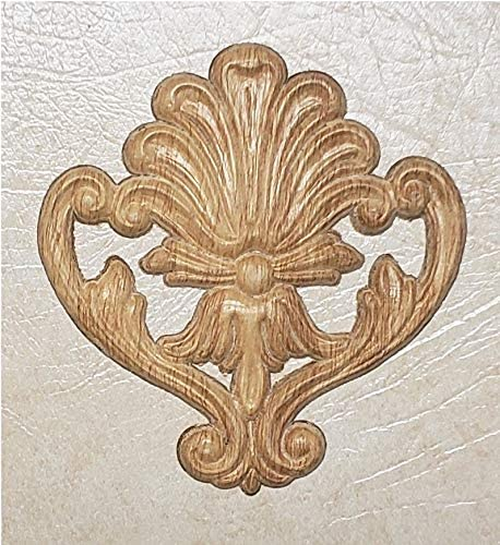 Embossed Wood Applique/ONLAY #1218 5 15/16 X 6