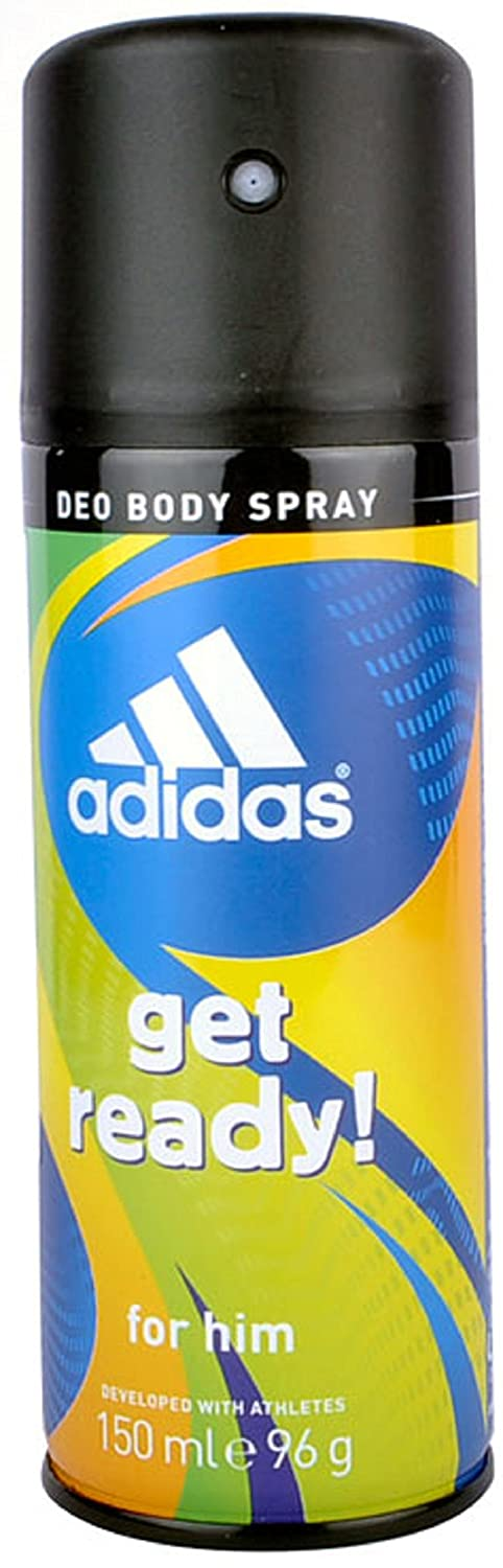 ADIDAS DEODORANT BODY SPRAY GET READY FOR MEN 150 ML - PACK OF 6