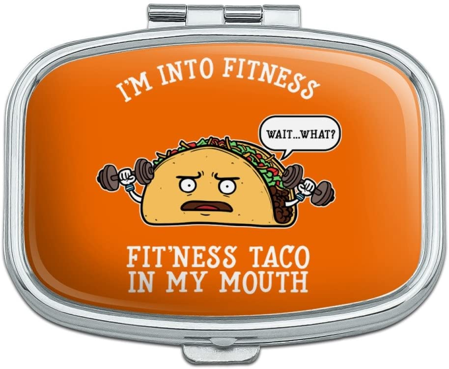 I'm Into Fitness Fit'ness Taco in My Mouth Funny Rectangle Pill Case Trinket Gift Box