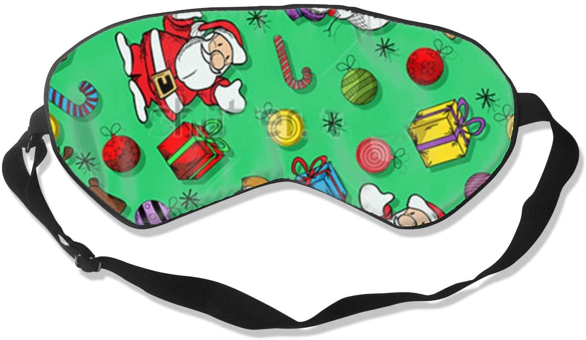 Christmas Santa Claus Snowmen Women Men Eye Shade Cover for Sleeping,Eye Mask for Night Sleep