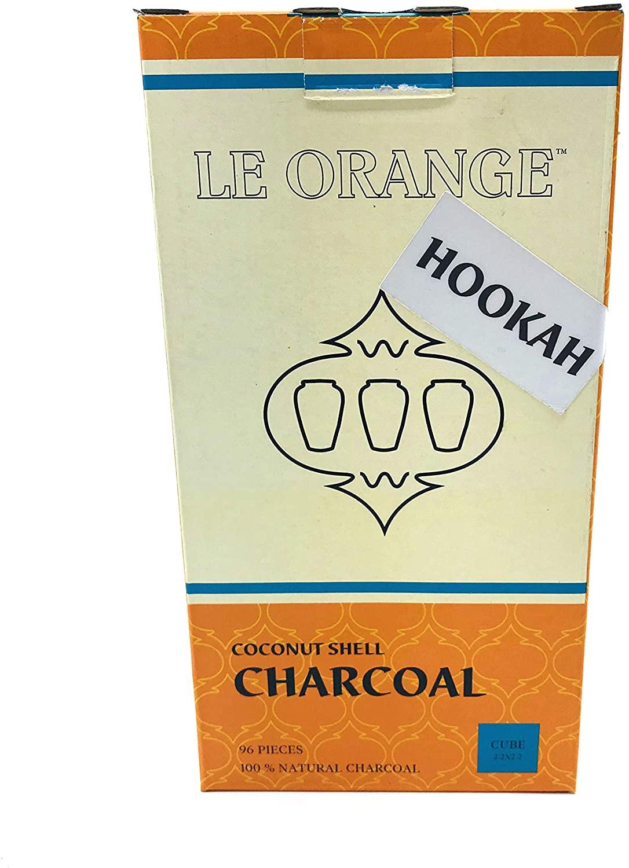 Le Orange Smoke Coconut Shell Charcoal Cube