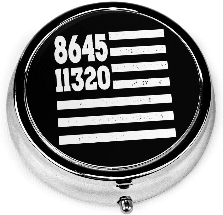 Pill Box -8645110320 Flag Us Code Compact 3 Compartment Medicine Case, Pill Box for Pocket Or Purse