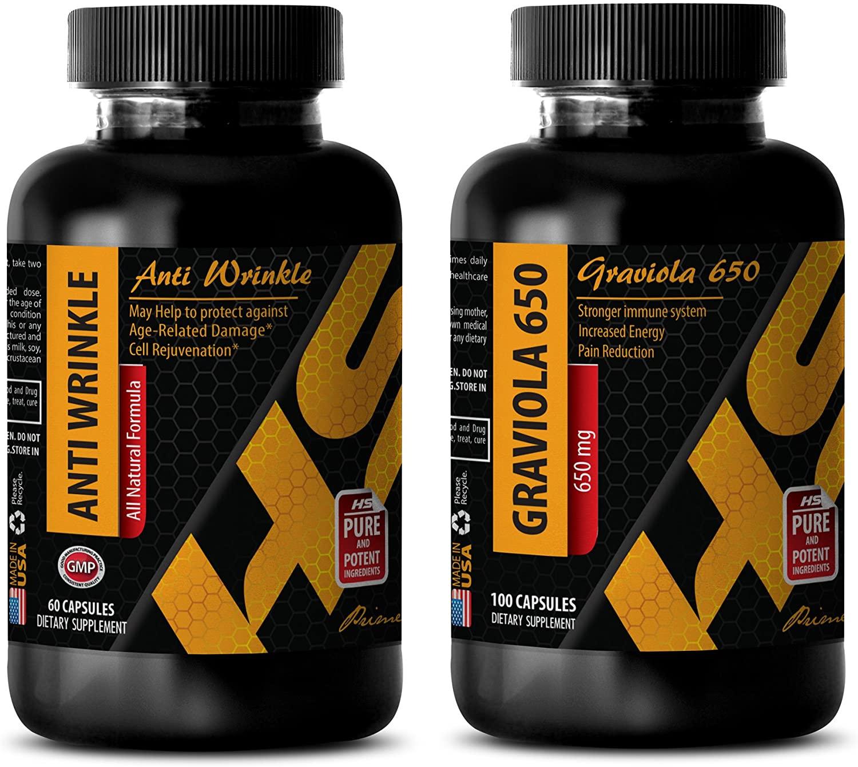 Anti-Aging Cleanser - Anti Wrinkle - GRAVIOLA - resveratrol Pills - (2 Bottle Combos)