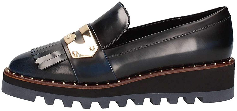Liu Jo Loafers-Shoes Womens Leather Blue