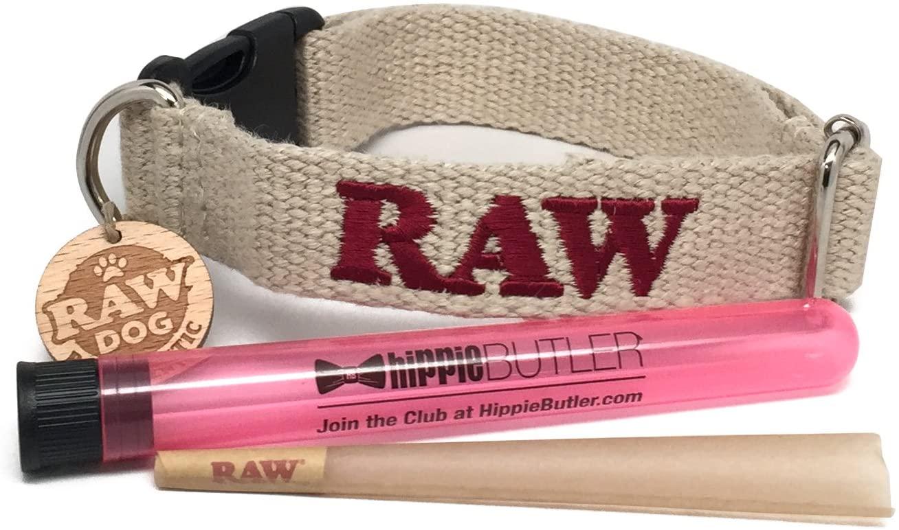 RAW Pet Collar (Medium), RAW Natural King Size Cone with Hippie Butler XL KewlTube