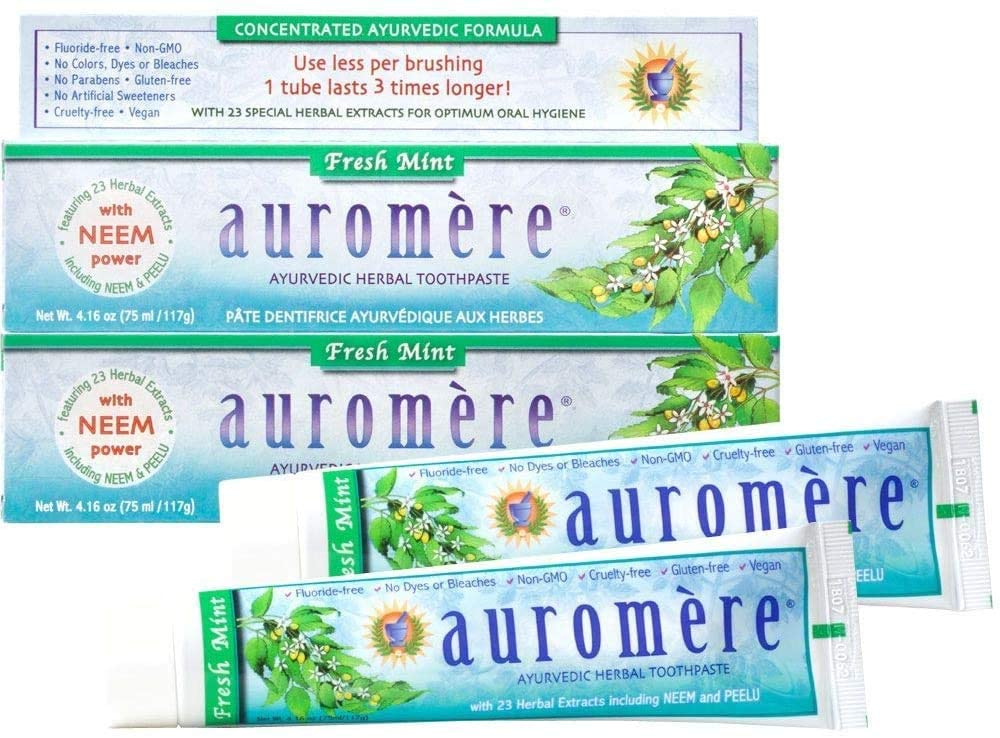 Auromere Freshmint Herbal Toothpaste, 4.16 Oz