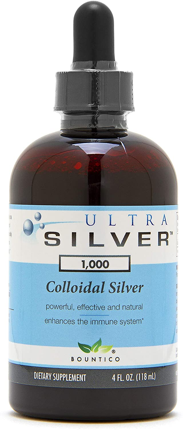 Ultra Silver® Colloidal Silver | 1,000 PPM, 4 Oz (118mL) | Mineral Supplement | True Colloidal Silver - with Dropper