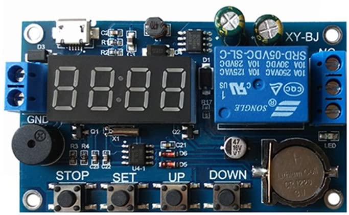 minansostey Real-time Relay Module Timing Switch Control Synchronization Delay Timer