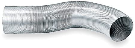 Noninsulated Flexible Duct, 30 ft. L, 500F
