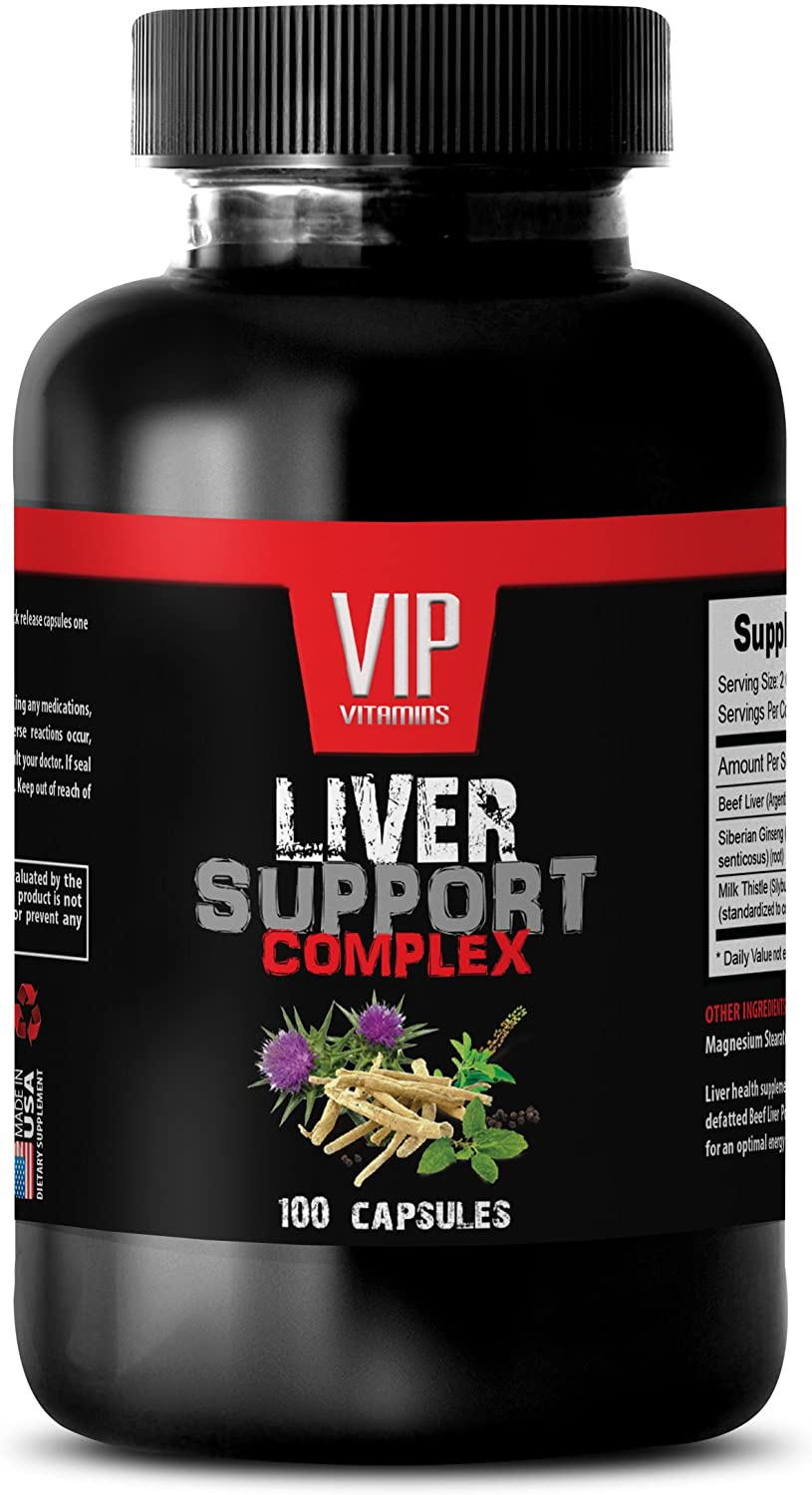 Liver Protector - Liver Support Complex - Milk Thistle and Beef Liver - Kidney Support - Milk Thistle Extra Strength - 1 Bottle (100 Capsules)