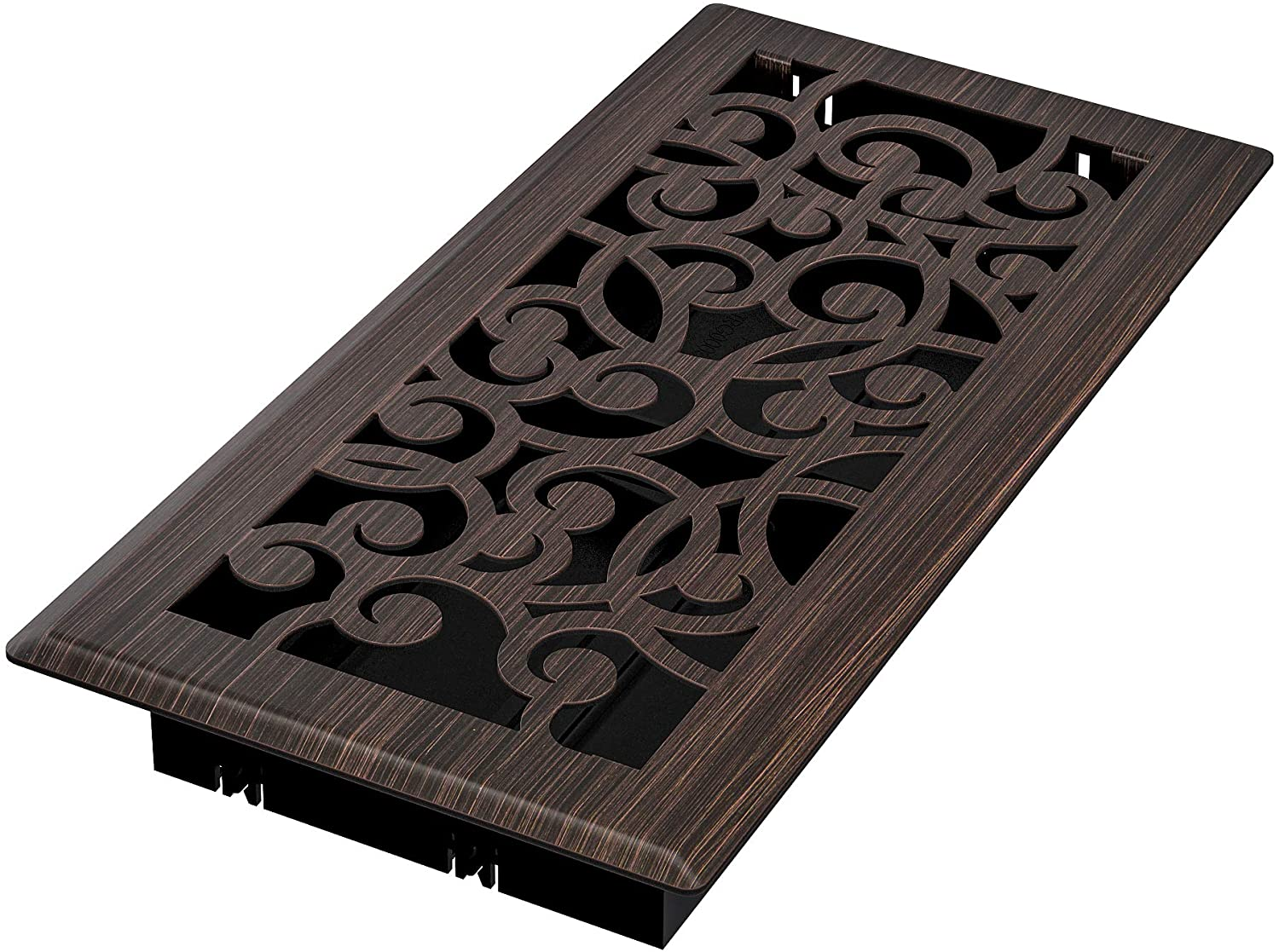 Imperial RG3365 Wonderland Decorative Floor Register, 4 x 10-Inch, Oil Rubbed Bronze