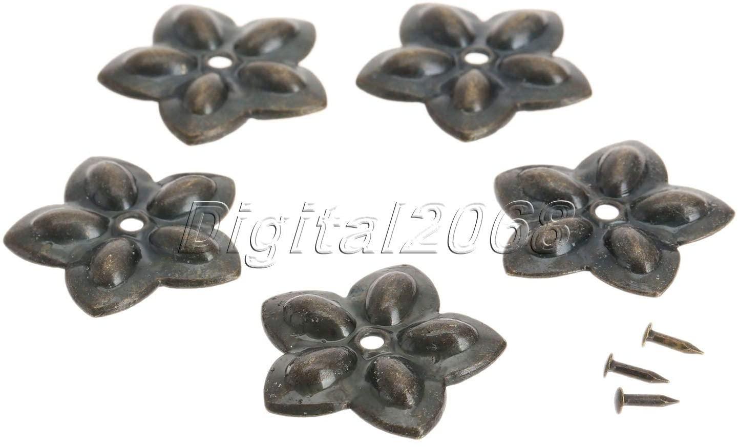 Ochoos New Useful 100Pcs Bronze Vintage Furniture Decorative Upholstery Nails Tacks Studs Furniture Fix 22x23mm