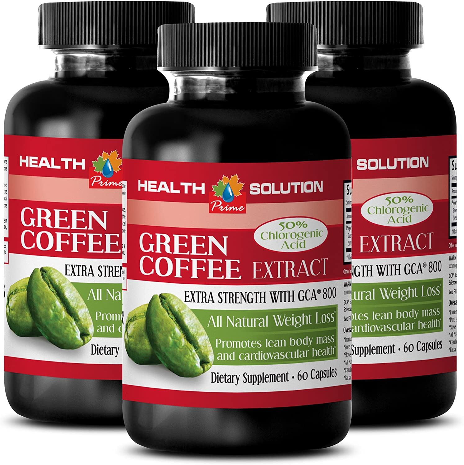 Weight Loss Night - Green Coffee Bean Extract - Green Coffee Original - 3 Bottles 180 Capsules
