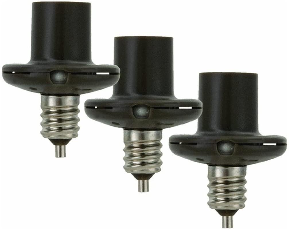 American Tack & Hardware Amertac SLC2BCB3-4 Dusk To Dawn Light-Sensing Socket Reducer Socket Adapter, 60 W, 120 V, Incandescent, Bronze