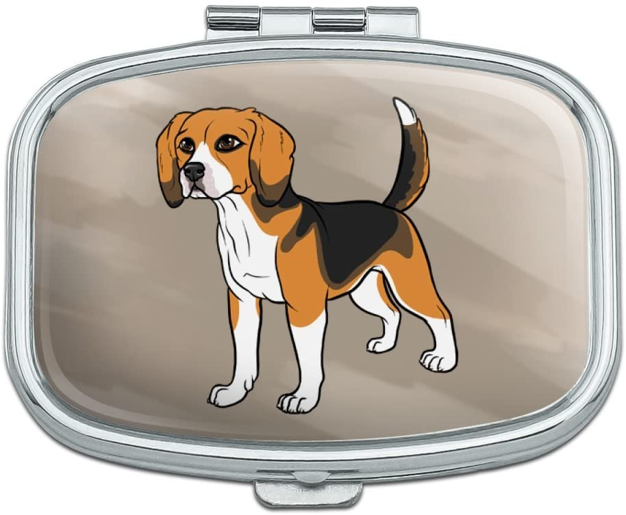 Beagle Pet Dog Rectangle Pill Case Trinket Gift Box