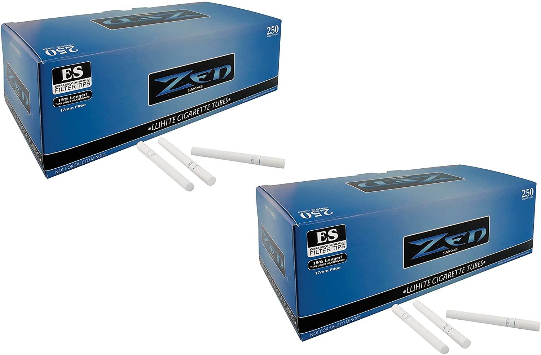 Zen White Light King Size Cigarette Filter Tubes (2)