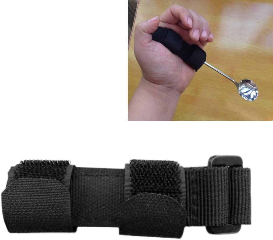 KIKIGOAL Utensils Holder, Universal Hand Strap for Holding Utensils Adjustable Ableware Eating Assistance Cuff for Weak Grip & Limited Mobility, Stroke, Arthritis