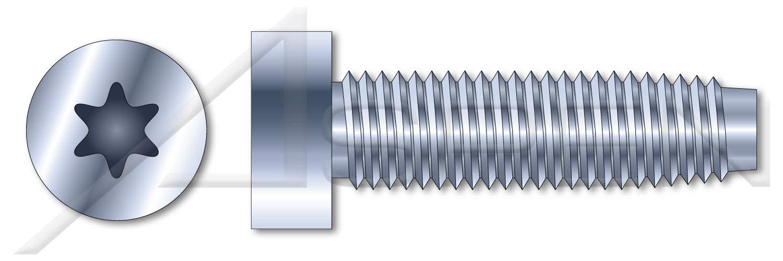 (1000 pcs) M5-0.8 X 25mm, DIN 7500 Type E, Metric, Thread Rolling Screws for Metals, 6-Lobe Torx(r) Socket Cap Screws, Steel, Zinc Plated