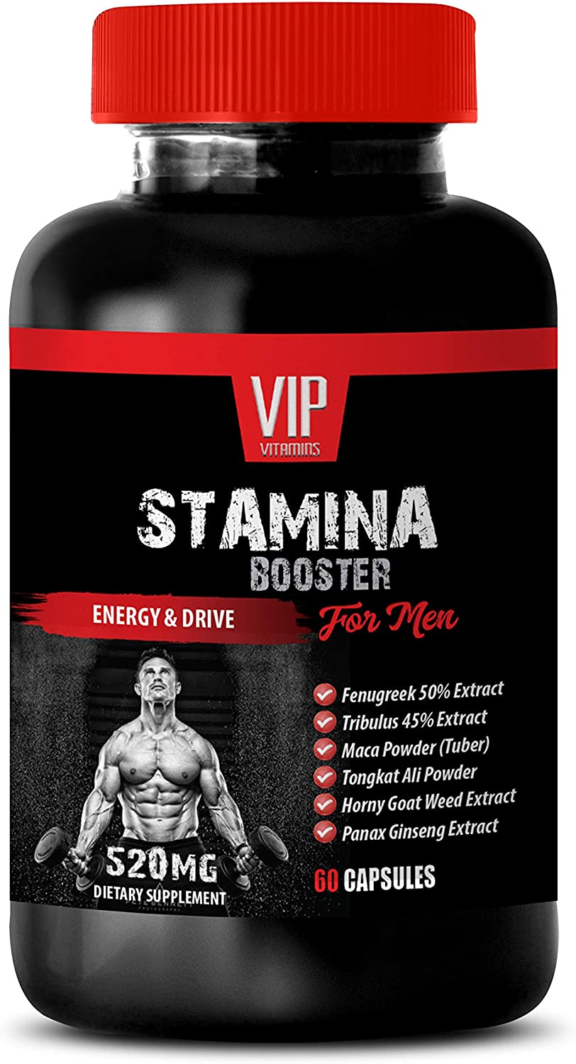 Stamina Booster for Men - Stamina Booster for Men - Energy and Drive - tribulus and tongkat - 1 Bottle 60 Capsules
