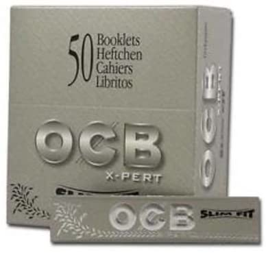 OCB X-PERT Slim FIT King Size 32 Leaves PER Pack UNFLAVORED Flavor Pack of 50