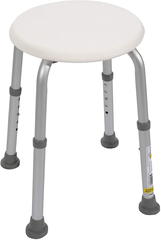 Essential Medical Supply Round Adjustable Bath/Tub Stool
