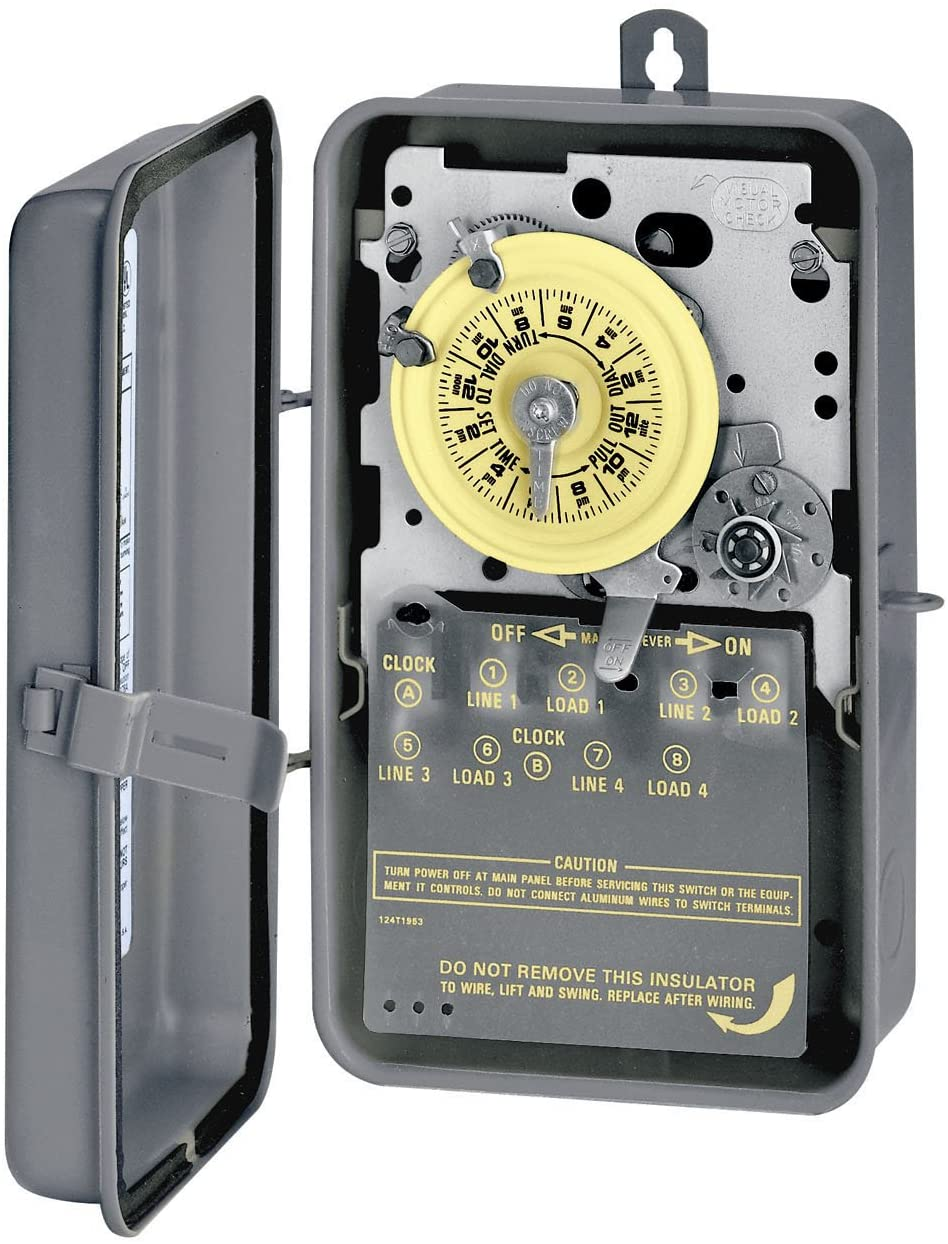 Intermatic T173R DPST 24 Hour 125-Volt Time Switch with 3R Steel Case, Color