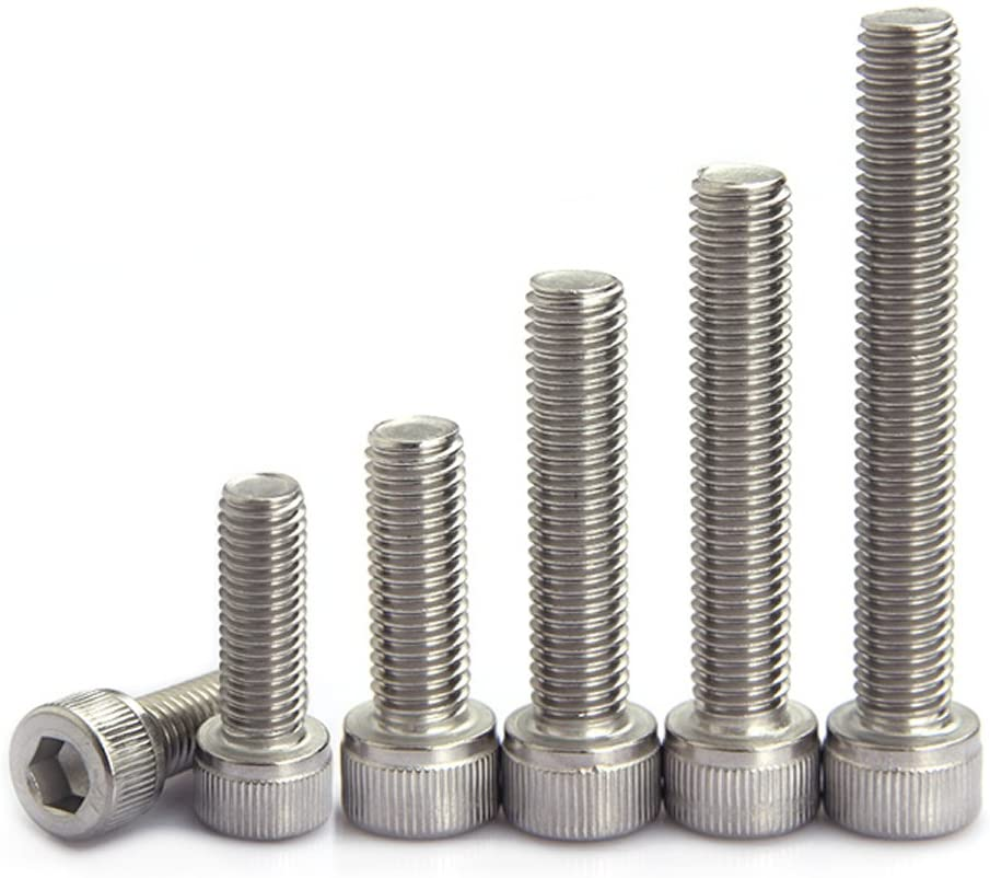 250pcs M4(4mm) A2 Stainless Steel Allen Bolts with Hex Nuts All Thread Screws Assortment (Set A Cap Head)