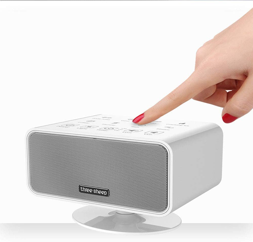 LXQ White Noise Machine - 8 Kinds of Natural Soothing Sound Sleep Therapy Machine, Baby and Sleep Portable Audio Machine, Music Atmosphere Lighting
