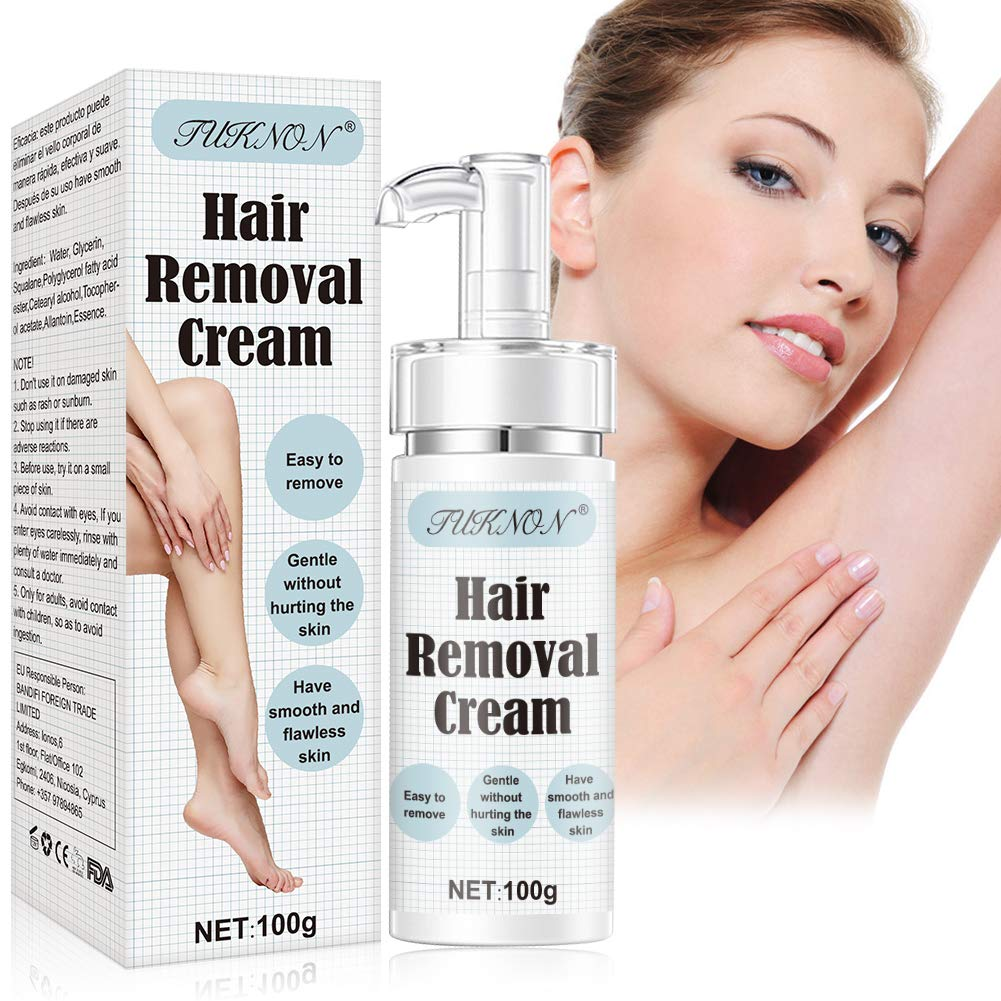 Hair Removal Cream, Depilatory Cream, Body Hair Removal Cream for Women and Men, Skin Friendly Painless Flawless Hair Remover Cream