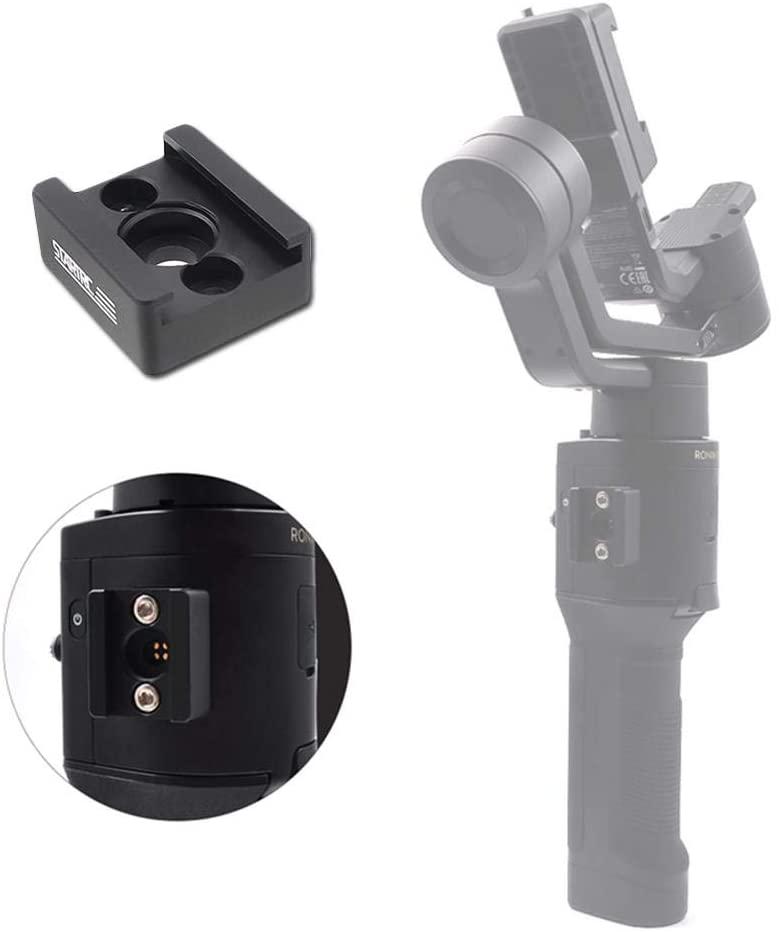Favrison Cold Shoe Adapter 1/4 Screw Handle Gimbal Mounting Plate for DJI Ronin-Sc DJI Cold-Shoe Expand Board
