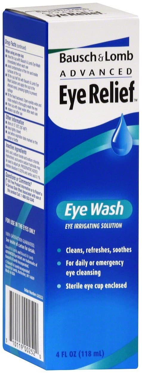 Bausch + Lomb Advanced Eye Relief Wash - 4 oz, Pack of 4