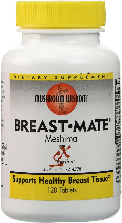 Mushroom Wisdom Breast-Mate Vegi-Tablets, 120 Count