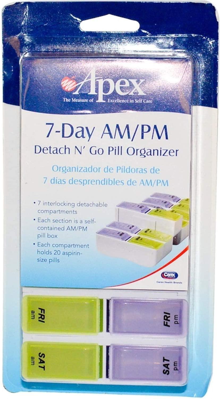 DSS 7-Day AM/PM Extra Large Detach N' Go™ Pill Organizer Each One