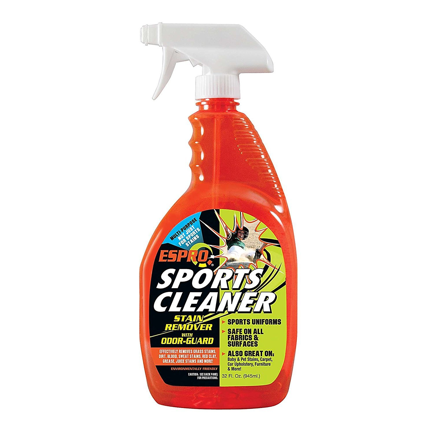 CLR Sports Cleaner Stain Cleaner, Spray Bottle, 32 Ounce