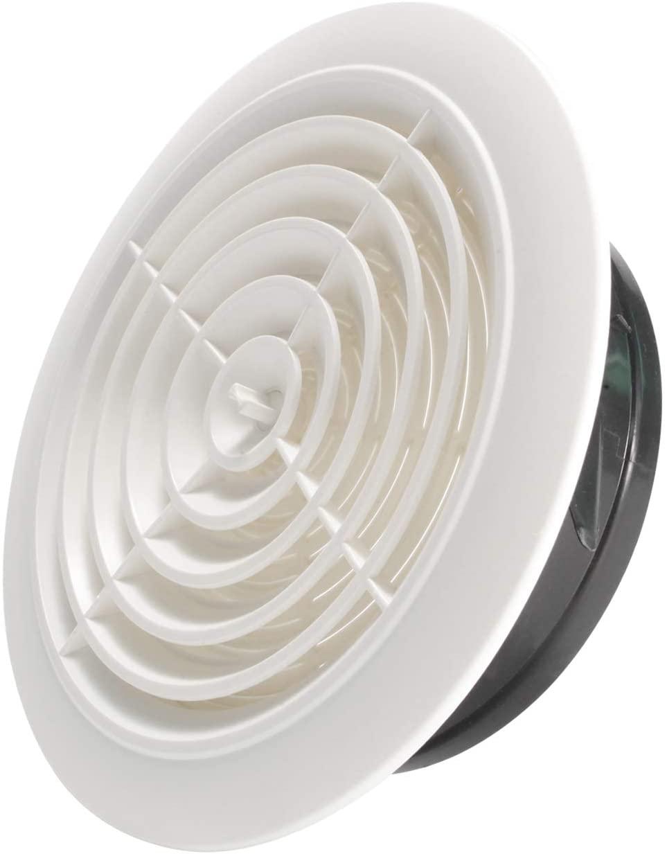 Hon&Guan 8'' Air Vent Air Grill Cover for Bathroom Office Home etc (ø200mm)
