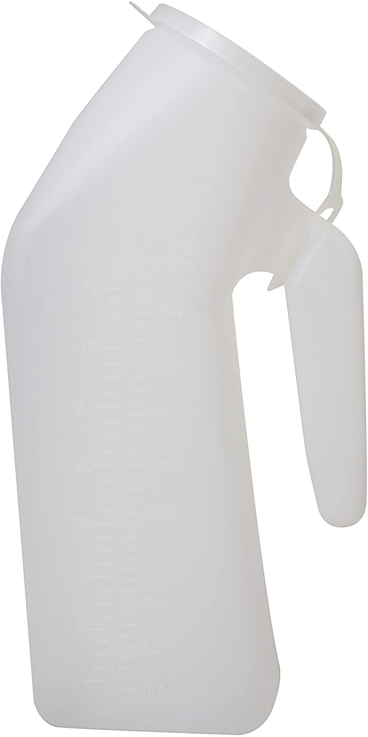 Essential Medical Supply Male Urinal with 1 Quart Capacity and Cap, 50 Count