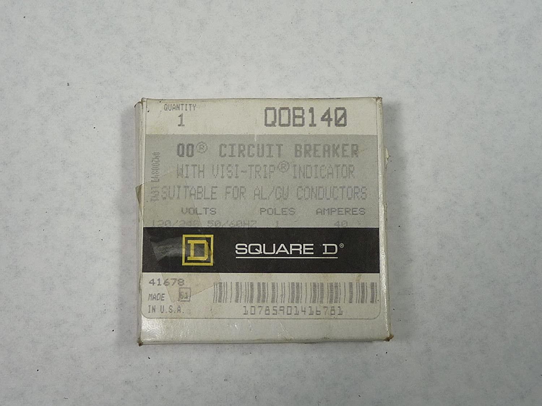 Square D QOB140 Bolt On Circuit Breaker 1P, 40A, 120/240VAC