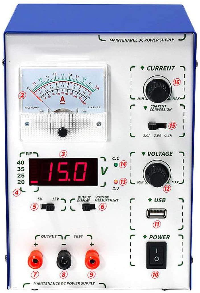 QWERTOUY 1Pcs 45W Adjustable Digital DC Supply Stabilizers Voltage Regulators Supply 110V / 220V