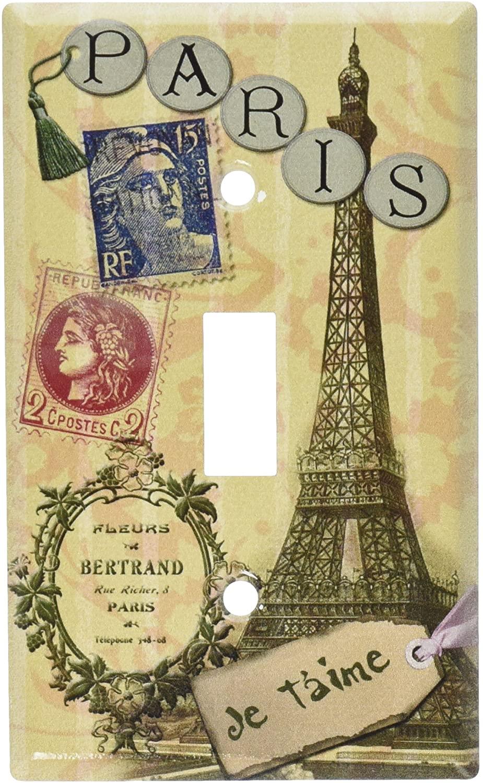 Art Plates - Paris Je T'aime Switch Plate - Single Toggle