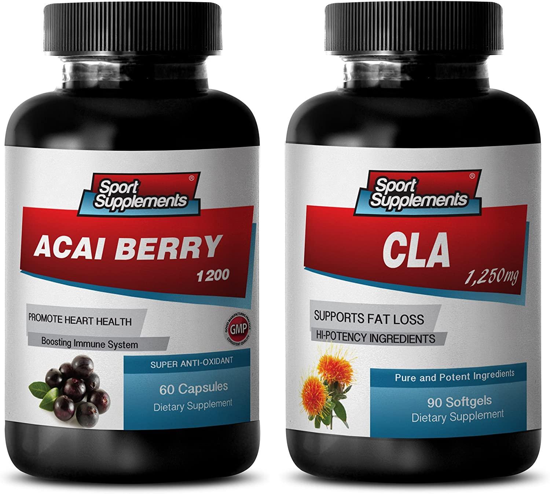 Weight Loss Meals - ACAI Berry - CLA - Combo - acai Vitamin Capsules - (2 Bottles Combo)