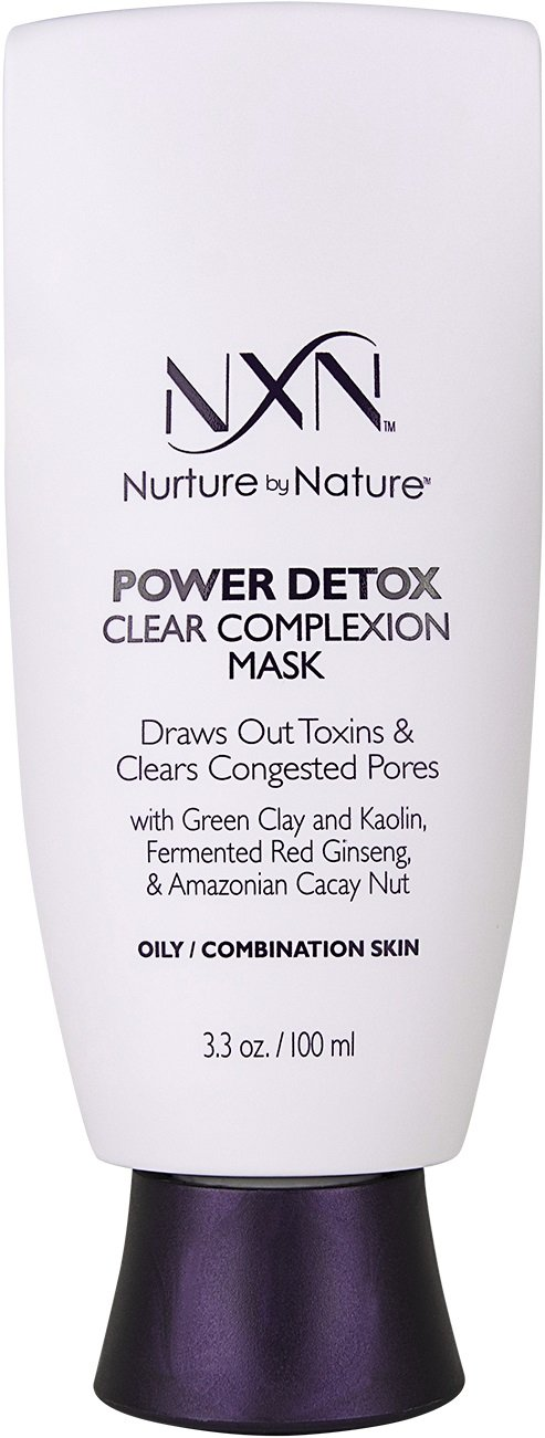 NxN Power Detox Clear Complexion Face Mask Detoxifying Clay Formula Natural Formula for Oily/Combination Skin, 3.3 Fl Oz