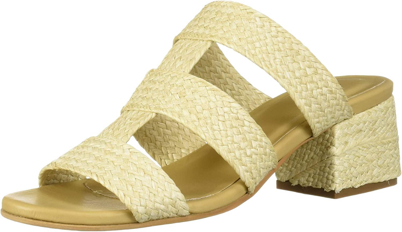KAANAS Women's Yassiada Woven Opentoe Low Heel Slide Sandal Shoe Heeled