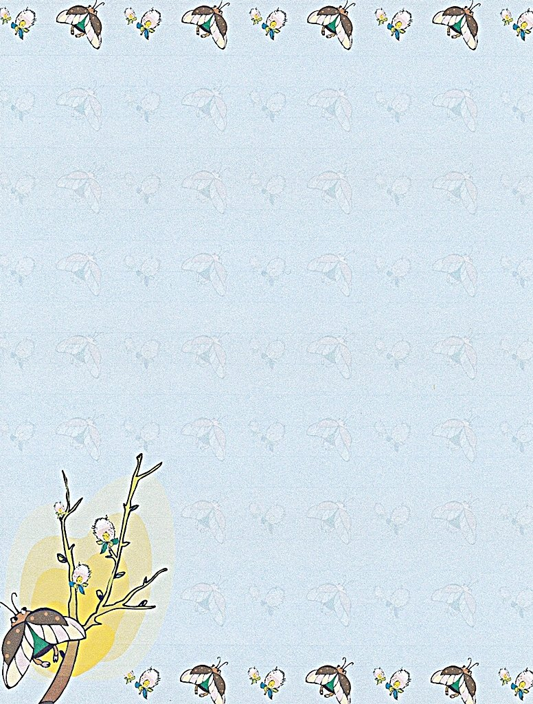 NEW Spring Butterfly Letterhead Stationery Paper 26 Sheets