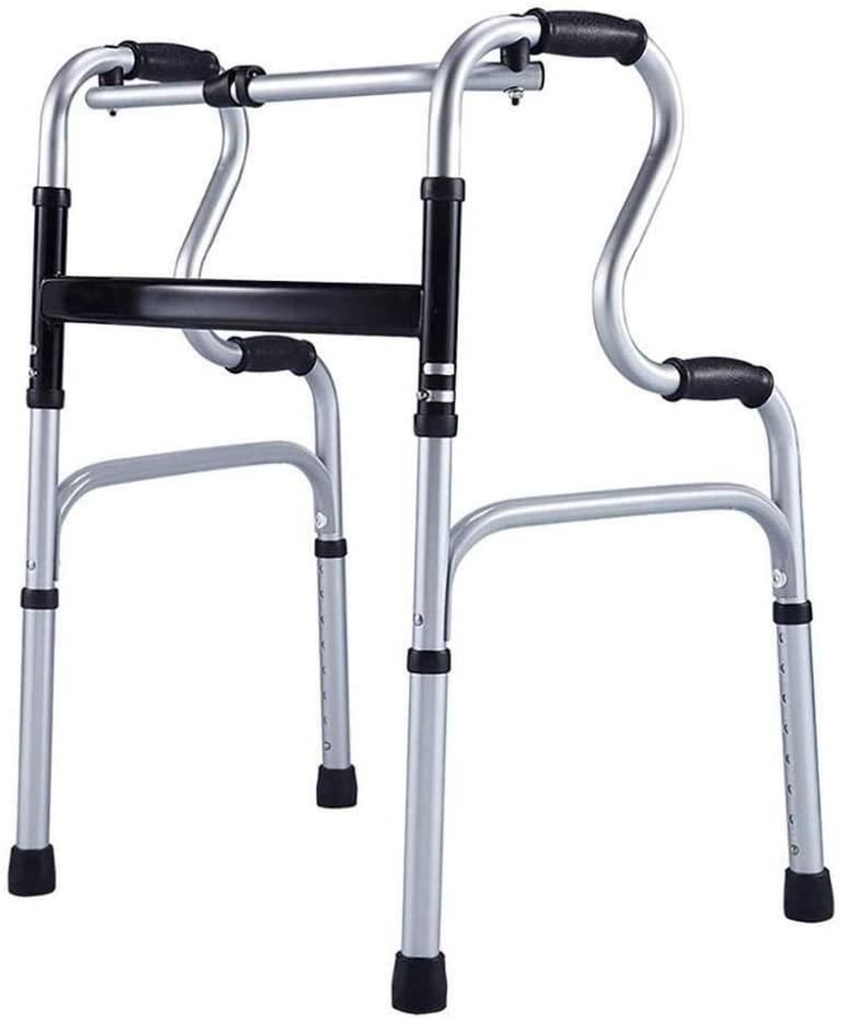 HTLLT Walking Aid Medical Instruments Lightweight Walking Frame - Folding Elderly Walker - Adjustable Height - Elderly Walker for Handicap Person