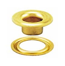 Stimpson Self-Piercing Grommet and Washer Brass Reliable, Durable, Heavy-Duty #2 Set (500 Pieces of Each)