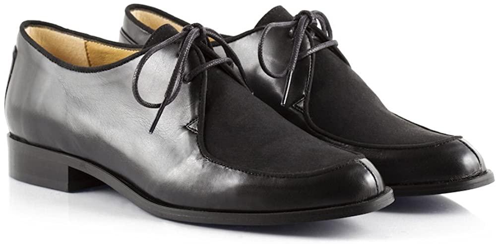 Bourgeois Boheme Jessica Lace-Up Vegan Dress Shoe in Black