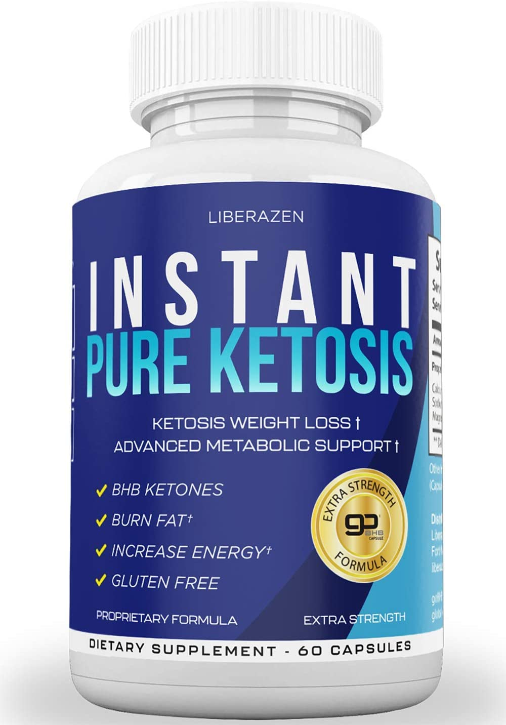 Instant Keto Pills - Advanced Weight Loss Diet Pill with Ketosis - Boost Energy, Get Focus, Manage Cravings & Improve Metabolism - Keto BHB Supplement for Women and Men - 60 Caps